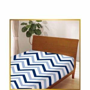 ベッドシーツ ヘリンボン60044-1 ブルー シングル