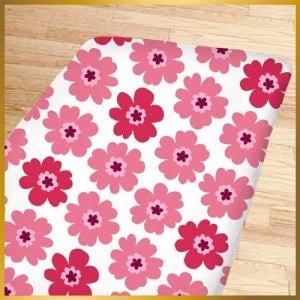 敷ふとんカバー フラワー601-95 ピンク セミダブル