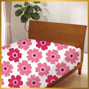ベッドシーツ フラワー60144-1 ピンク シングル