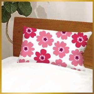 枕カバー フラワー601-43 ピンク 43cmx63cm用