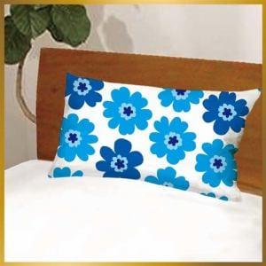 枕カバー フラワー601-43 ブルー 43cmx63cm用