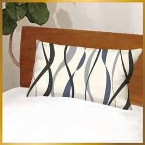 枕カバー ウェーブライン602-43 グレー 43cmx63cm用
