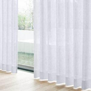 レースカーテン YDDボイルジェイ ホワイト 巾100cm×丈198cm 2枚入