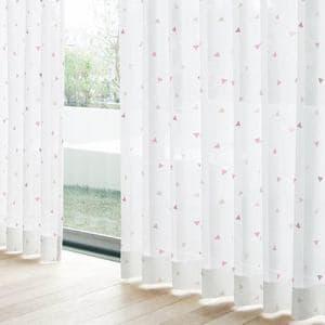 レースカーテン YDDボイルトリアン ローズ 巾100cm×丈198cm 2枚入