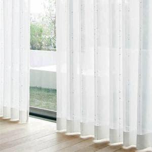 レースカーテン YDDボイルシオン ホワイト 巾100cm×丈133cm 2枚入
