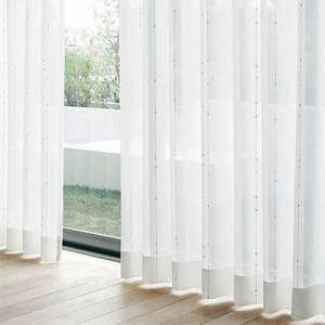 レースカーテン YDDボイルシオン ホワイト 巾100cm×丈198cm 2枚入