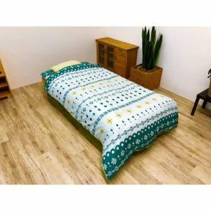 イケヒコ・コーポレーション 寝具3点カバー ポタリ―  シングル グリーン
