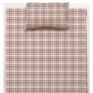 綿先染枕カバーS チェック レッド 35×50cm