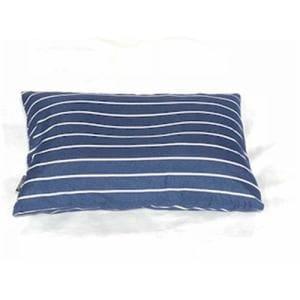枕カバー/ピローケース 幾何ボーダー ネイビー 35cm×50cm用 しわになりにくい 乾きやすい
