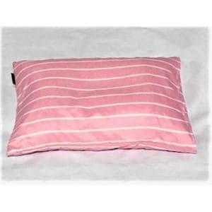 枕カバー/ピローケース 幾何ボーダー ピンク 35cm×50cm用 しわになりにくい 乾きやすい