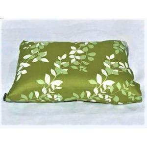 枕カバー/ピローケース リーフ グリーン 35cm×50cm用 しわになりにくい 乾きやすい