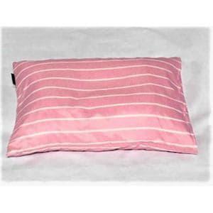 枕カバー/ピローケース 幾何ボーダー ピンク 43cm×63cm用 しわになりにくい 乾きやすい