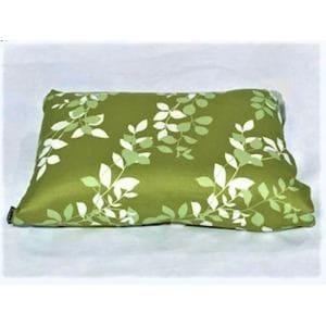 枕カバー/ピローケース リーフ グリーン 43cm×63cm用  しわになりにくい 乾きやすい