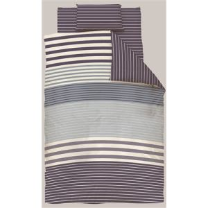 掛け布団カバー シングルロング 150×210cm  幾何ボーダー ネイビー  しわになりにくい 乾きやすい