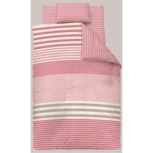 掛け布団カバー シングルロング 150×210cm  幾何ボーダー ピンク  しわになりにくい 乾きやすい
