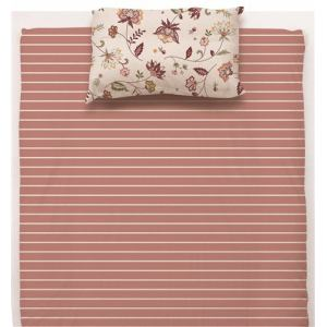 敷布団カバー ダブル 145×215cm  サラサ ピンク しわになりにくい 乾きやすい