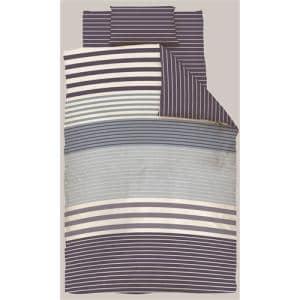 掛け布団カバー ダブル 190×210cm  幾何ボーダー ネイビー  しわになりにくい 乾きやすい