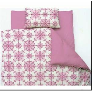 掛け布団カバー セミダブル 170×210cm  オリエンタルタイル ピンク