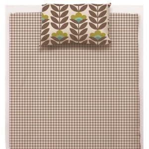 綿枕カバーS 北欧フラワー ブラウン 35×50cm