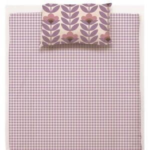 綿枕カバーS 北欧フラワー パープル 35×50cm