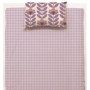 綿枕カバーM 北欧フラワー パープル 43×63cm
