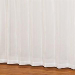 レースカーテン 防炎 見えにくい テリオス ホワイト 巾100cm×丈103cm 2枚入