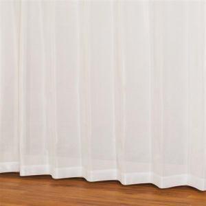 レースカーテン 防炎 見えにくい テリオス ホワイト 巾100cm×丈176cm 2枚入