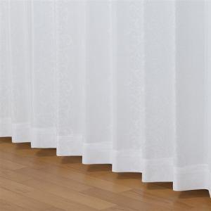 レースカーテン 遮熱 UVカット セラーノレース ホワイト 巾150cm×丈176cm 1枚入