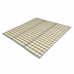 竹ラグ アース (約2畳) グレー 180×180cm