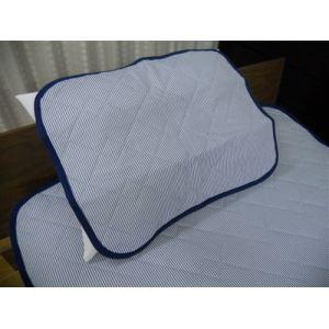 大宗  ニットメッシュ枕パット DSPP182 45×55cm ネイビー