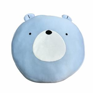 冷感丸フロア クマ ブルー 43丸×8cm