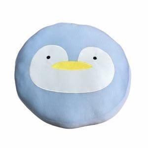 冷感丸フロア ペンギン ブルー 43丸×8cm