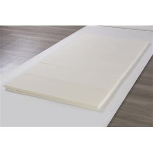 6つ折り硬質マットレス  ホワイト シングル