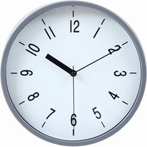 掛時計 ハリー グレー 22cm