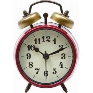 置時計 ベルアラーム レッド