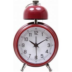 置時計 ベルクロック レッド