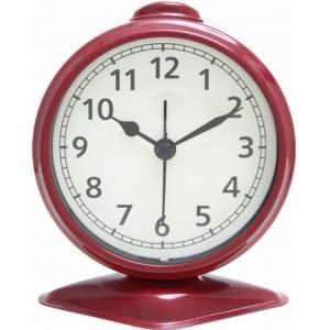 置時計 テーブルアラーム レッド