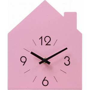 置時計 ハウス ピンク