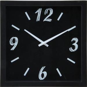掛時計 ペイント ブラック 23cm
