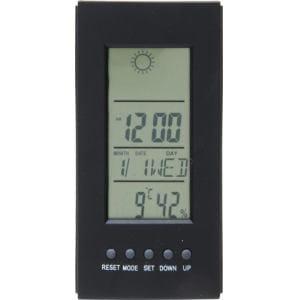 ミニ置時計 デジタル多機能付き ブラック