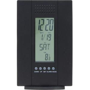 置時計 デジタル多機能付き ブラック