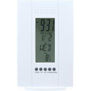 置時計 デジタル多機能付き ホワイト
