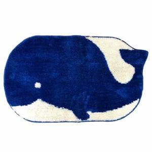 アクセントマット クジラ ブルー 45×75cm
