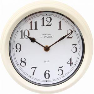 掛時計 スチールフレーム ホワイト