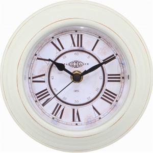 置・掛両用時計  ホワイト 径14cm