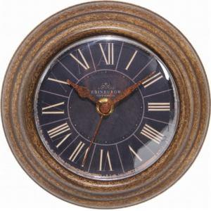 置・掛両用時計  ブラウン 径14cm