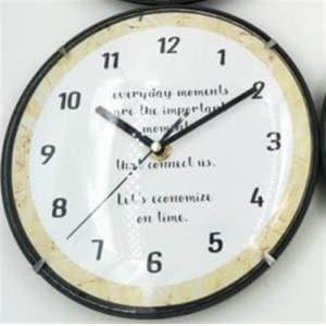 掛時計  ホワイト
