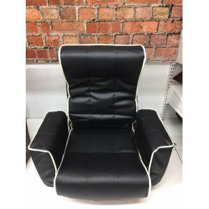 肘付き回転座椅子  ブラック 幅59×奥行き68×高さ71cm