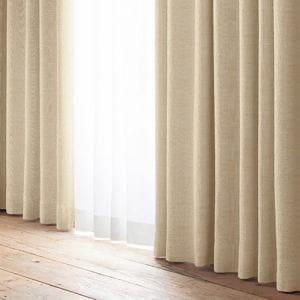 カーテン 巾100cm×丈135cm YDDドレス ベージュ 2枚入 遮光 形状記憶加工 ウォッシャブル