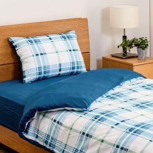 布団セット シングル カバー3点セット(掛・敷・枕)  ブルー しわになりにくい 乾きやすい